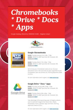 Chromebooks * Drive * Docs * Apps