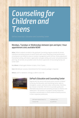 Counseling for Children and Teens