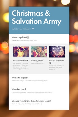 Christmas & Salvation Army