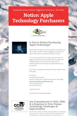 Notice: Apple Technology Purchasers