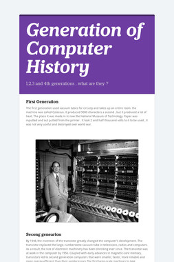 Generation of Computer History