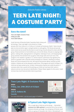 Teen Late Night: A Costume Party