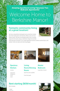 Welcome Home to Berkshire Manor!
