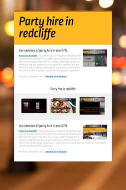 Party hire in redcliffe