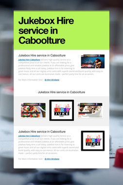 Jukebox Hire service in Caboolture