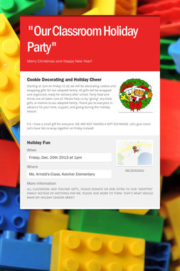 """Our Classroom Holiday Party"""