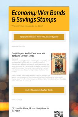 Economy: War Bonds & Savings Stamps