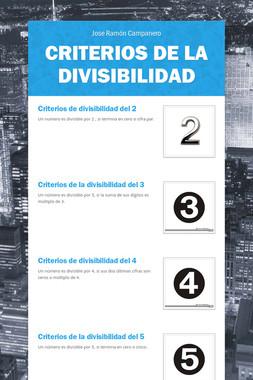 Criterios de la Divisibilidad