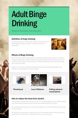 Adult Binge Drinking