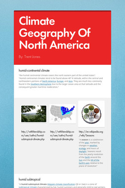 Climate Geography Of North America