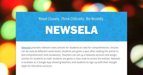Newsela Smore Newsletters