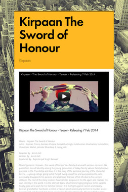 Kirpaan The Sword of Honour