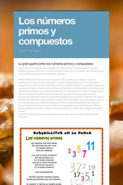 Los  números primos y compuestos
