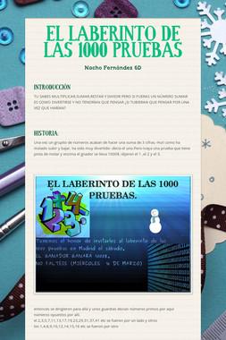 EL LABERINTO DE LAS 1000 PRUEBAS