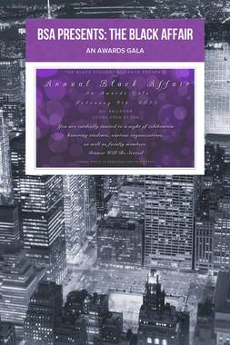 BSA Presents: The Black Affair