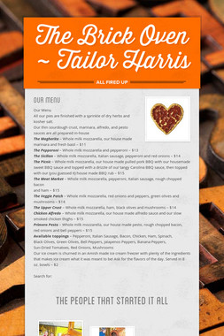 The Brick Oven ~ Tailor Harris