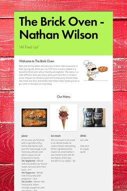 The Brick Oven - Nathan Wilson