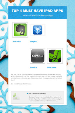 Top 4 Must-Have iPad Apps