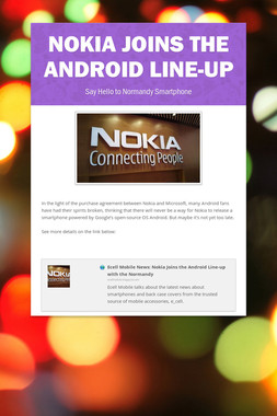 Nokia Joins the Android Line-up