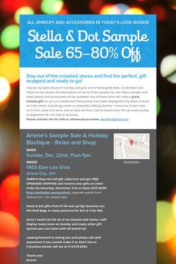 Stella & Dot Sample Sale 65-80% Off