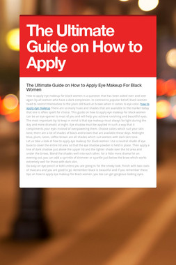 The Ultimate Guide on How to Apply