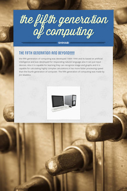 the fifth generation of computing