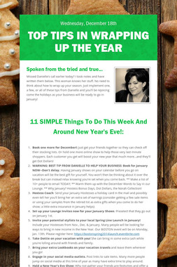 Top Tips in Wrapping Up the Year