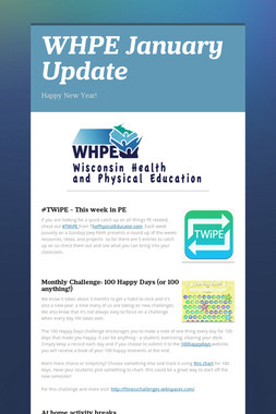 WHPE January Update