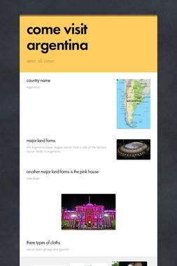 come visit argentina