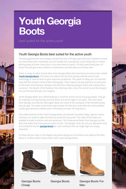 Youth Georgia Boots