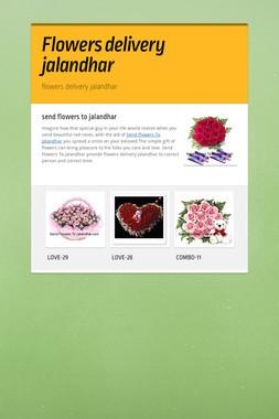 Flowers delivery jalandhar