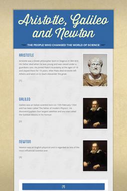 Aristotle, Galileo and Newton
