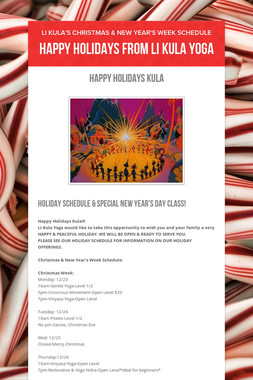Happy Holidays from LI Kula Yoga