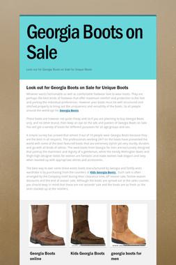 Georgia Boots on Sale