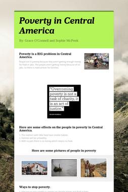 Poverty in Central America