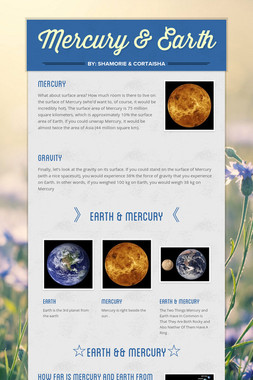 Mercury & Earth