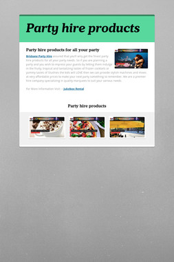 Party hire products