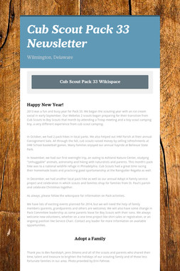 Cub Scout Pack 33 Newsletter