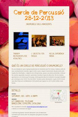 Cercle de Percussió 28-12-2013