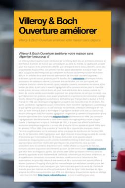 Villeroy & Boch Ouverture améliorer