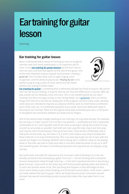Ear training for guitar lesson