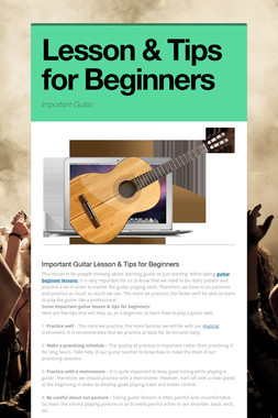 Lesson & Tips for Beginners