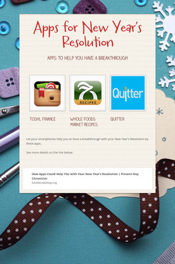 Apps for New Year's Resolution