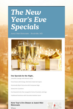 The New Year's Eve Specials