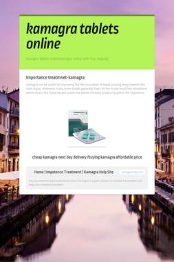 kamagra tablets online