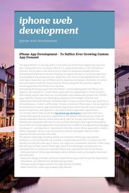 iphone web development