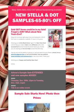 NEW Stella & Dot Samples-65-80% off