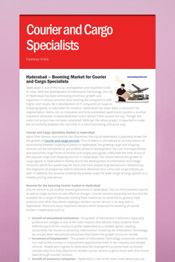 Courier and Cargo Specialists