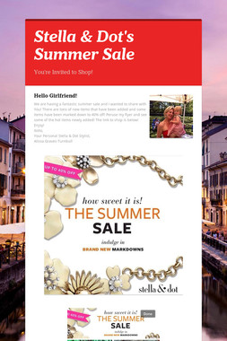 Stella & Dot's Summer Sale