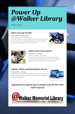 Power Up @Walker Library